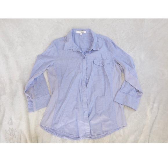 25e272bb8f3 Ellen Tracy Tops   Womens Denim Shirt Medium   Poshmark